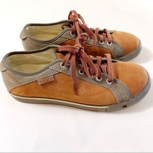KEEN Arcata Brown Leather & Gray Suede sneakers